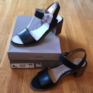 Franco Sarto Havana Black Sandals Size 8.5M